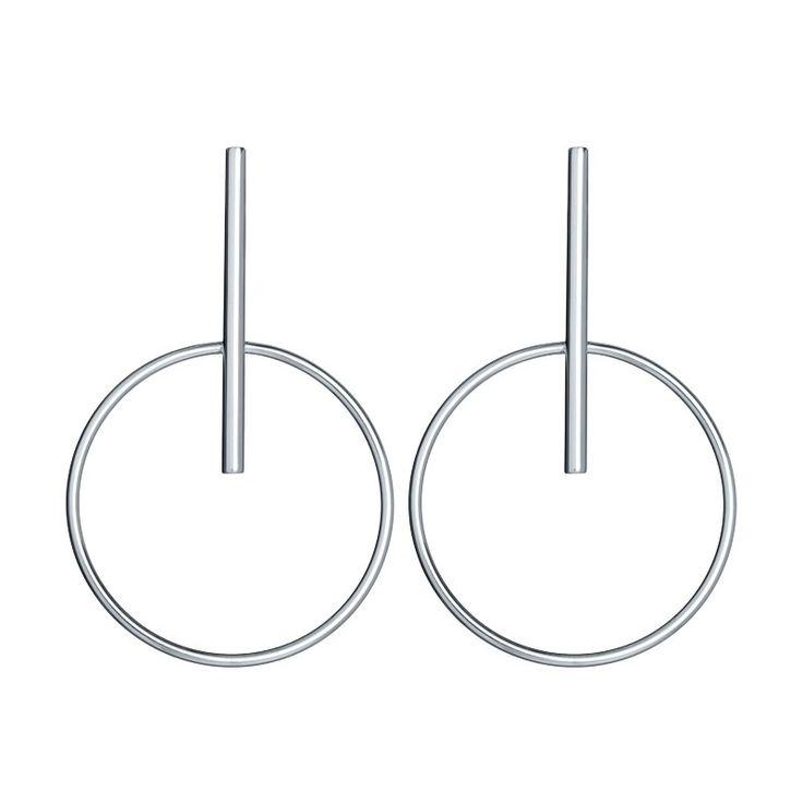 Hoop Silver Earrings