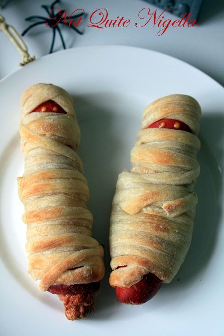 mummy hot dogs. Did this one year and it was a huge hit!