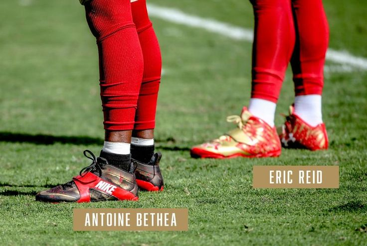 Cleats of the San Francisco 49ers