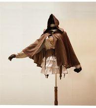 Stoom Cyber Punk steampunk vintage cape poncho mantel jurk kiel metalen klinknagel suède stof met een kap mantel bovenkleding cosplay(China (Mainland))