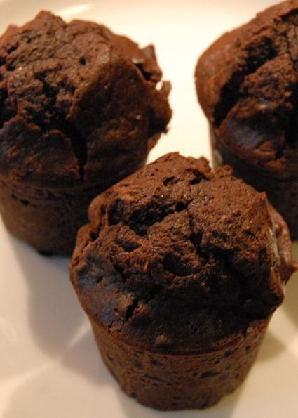 very chocolatey brownie muffins
