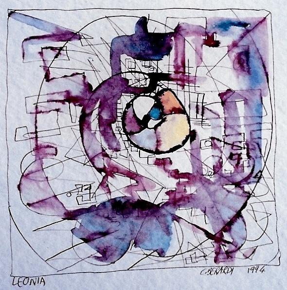 """Leonia, illustrazione di Cristina Berardi per  """"Città Invisibili"""" di Italo Calvino, 1995, inchiostro e acquarello"""
