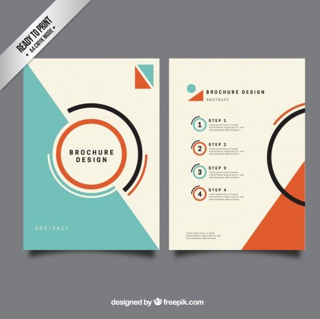 Minimalis brochure modèle Vecteur gratuit