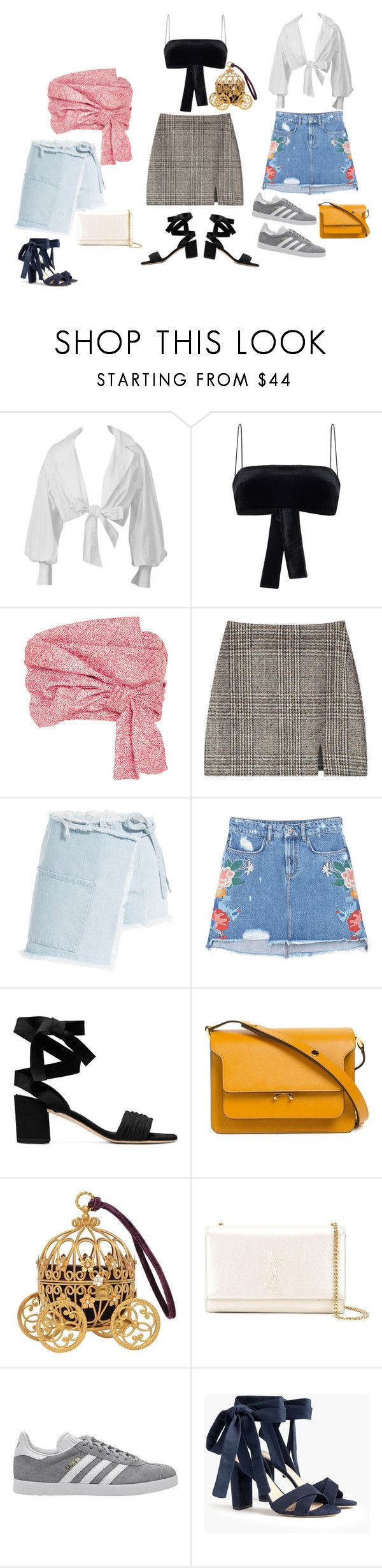 """""""Untitled #11"""" by andrea-noches on Polyvore featuring Montana, Rasario, Adeam, Sandy Liang, MANGO, Marni, Yves Saint Laurent, adidas Originals and J.Crew"""