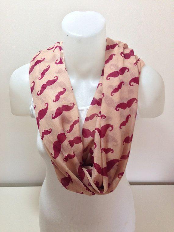ON SALEMustache Scarf ShawlScarf Fashion Women Scarves by BalMelek, $14.90