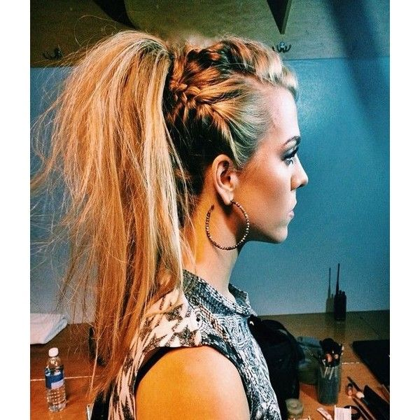 30 Cool Girl Hairstyles You Need To Try via Polyvore featuring beauty products, haircare, hair, hairstyles and ponytail