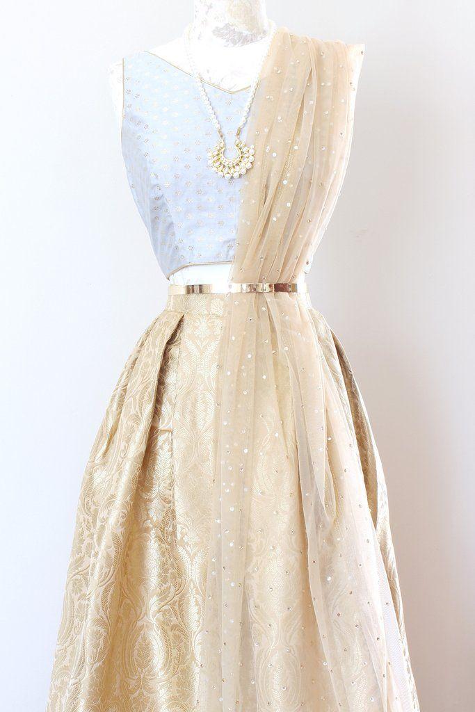 Gilded Skirt - Gold