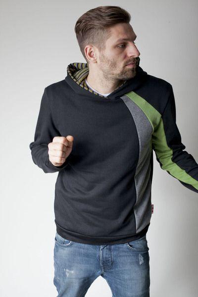 Hoodies - sorted Männer Hoodie Streifen - ein Designerstück von sorted-clothing bei DaWanda