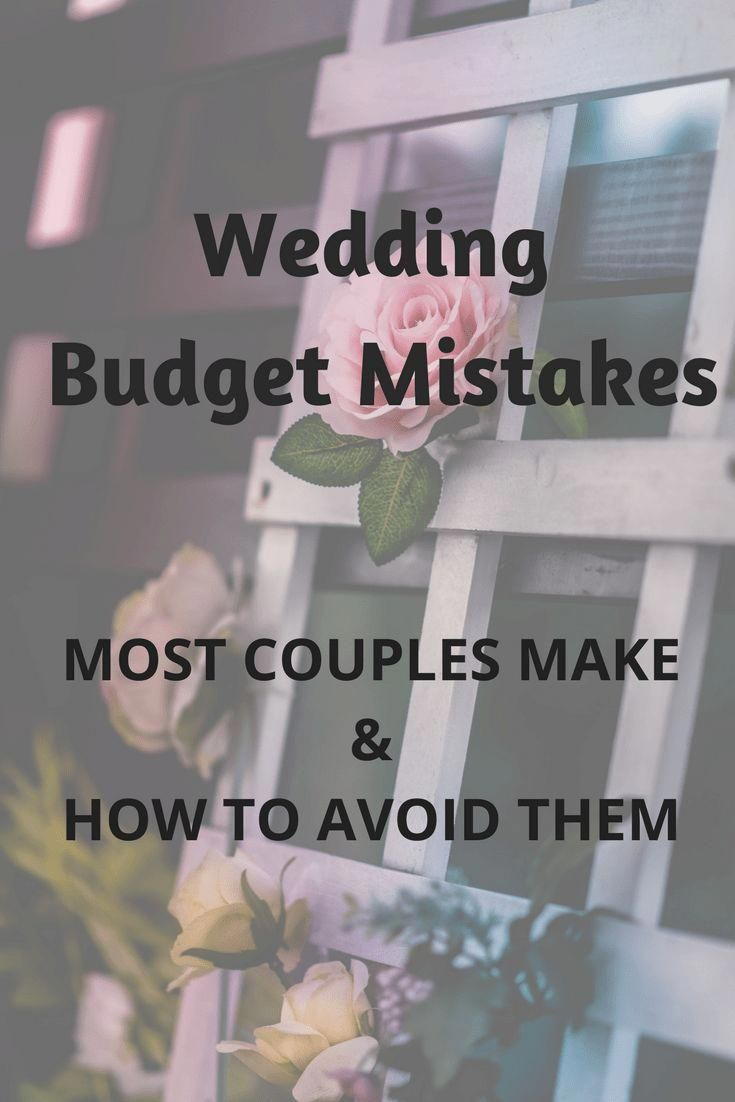 common wedding budget mistakes and how to avoid them