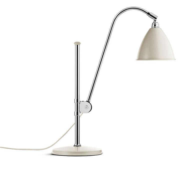 GUBI // Bestlite BL1 Table Lamp in off-white/chrome