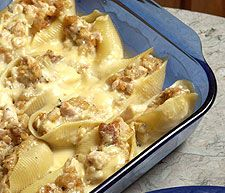 Chicken Stuffed Shells... This is a huge favorite in my house, even with the most picky eaters!