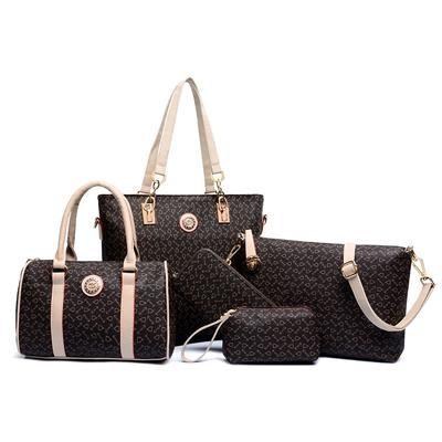 9796706b71 6 Sets Summer HOT Striped Shoulder Bag Bolsas Femininas Designer Handbag De  Marca Superme Bags Handbags Women Famous Brands