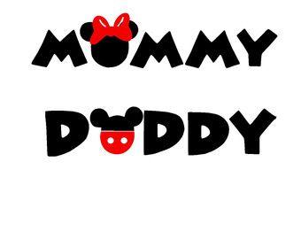 Mamá y papá Mickey inspirado SVG o silueta por MandaNoelle en Etsy