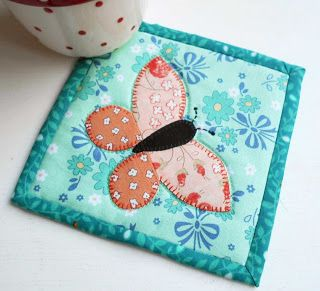 A fabric coaster makes the ideal gift to tuck into a Birthday card.