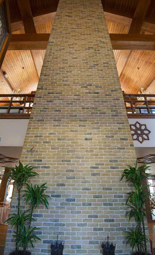 Feature Pillar using London Town Brick Slips