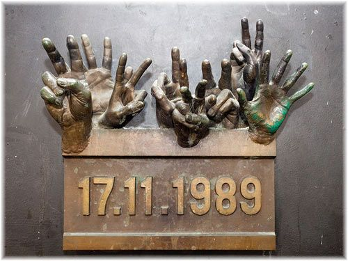This is a memorial dedicated to the students that started the Velvet Revolution, one of Czechoslovakia's biggest moments in history.