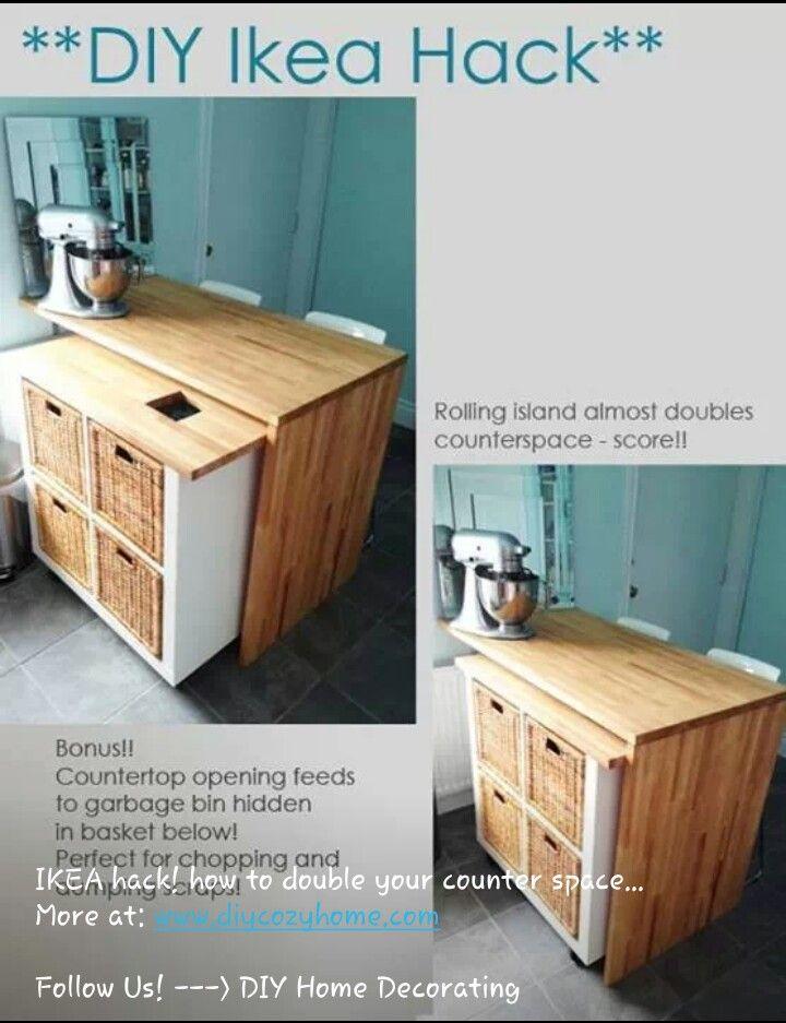 Diy Bookcase Kitchen Island