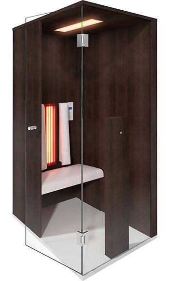 """Infrarotkabinen Luxus! Das Modell """"Select-Line-1"""" in Amazonas Eiche ist in jeder Wohnung der Hingucker schlecht hin! Platzsparend und mit modernster Infrarottechnologie ausgestattet. Dieses Prachtstück hat auch Ihren Preis : €6.890,00  #infrarotkabinen #infrarotsauna #selectline1 #wellnesswednesday #gesundheit #wärme #winter #luxus"""