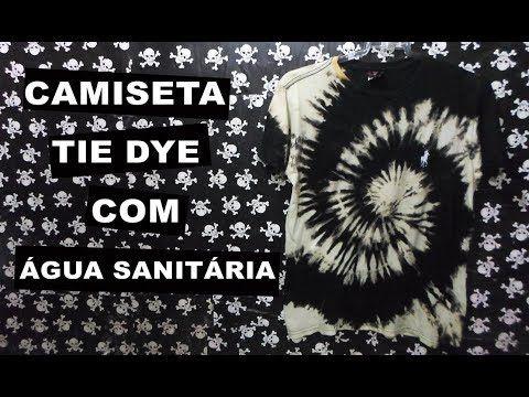 e85940c8aa COMO FAZER CAMISETA TIE DYE COM ÁGUA SANITÁRIA - BLEACH SHIRT - YouTube