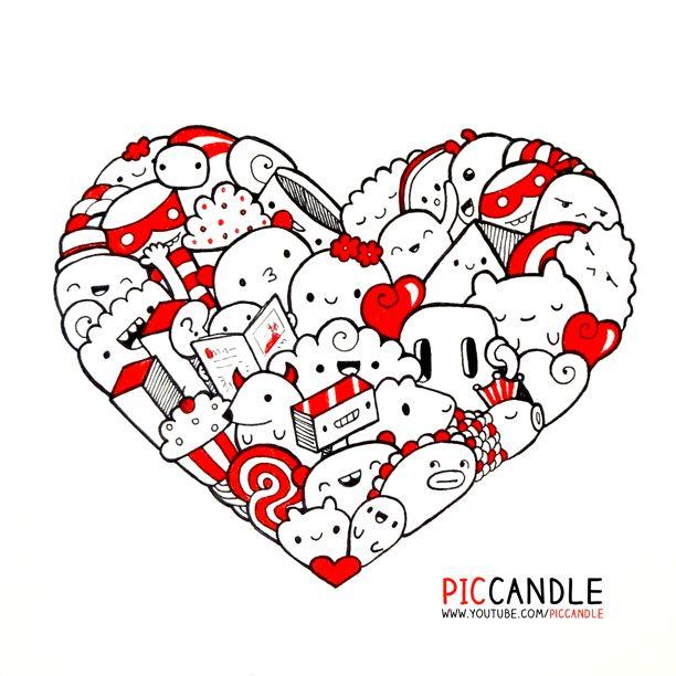 Heart Doodle ♥ | www.youtube.com/piccandle | #doodle