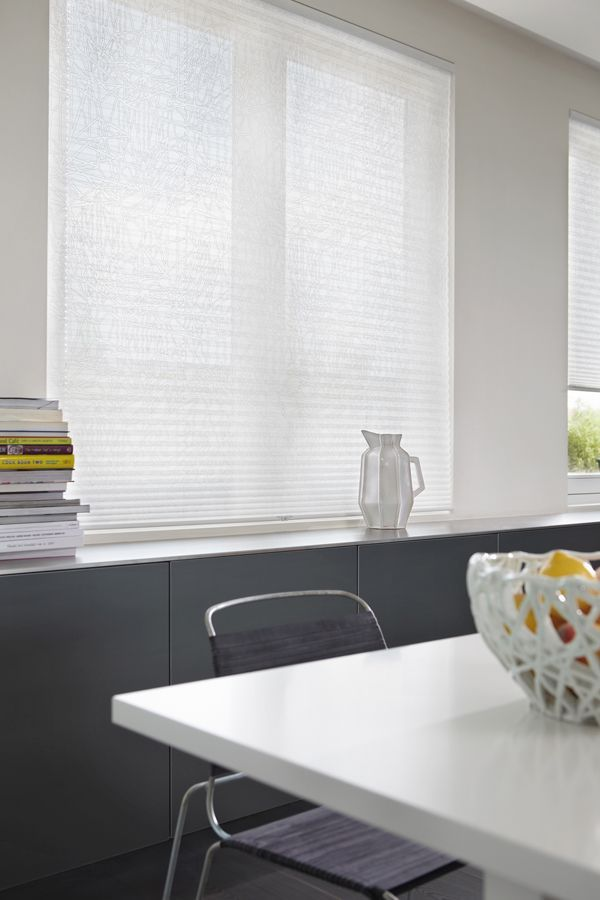 One Of The Best Things About Plumping For A White Kitchen Design Is That It Can Accommodate New Ideas As They White Blinds Kitchen Blinds White Kitchen Design