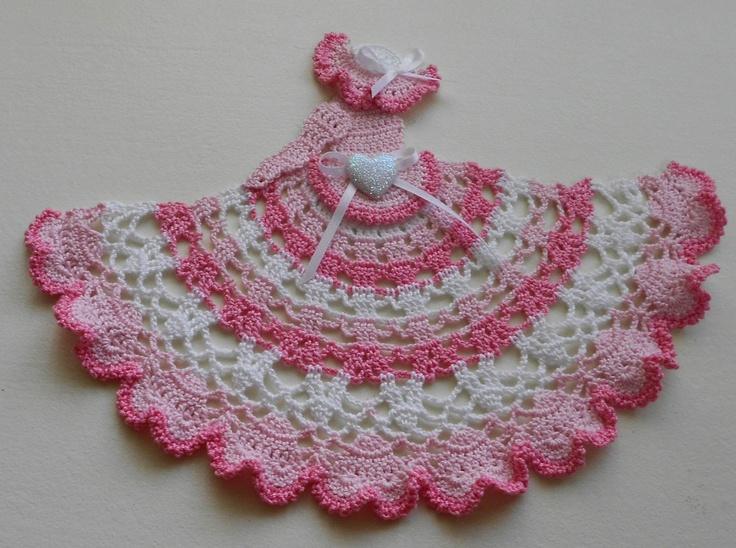 Pink & White Varigated Crinoline Doll