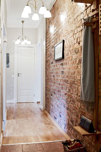 Faux Red Brick Wallpaper - get that exposed brick wall look without the cost of the brick wall