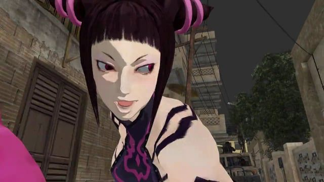My favorite character in Street Fighter Juri I tried to make a Action scene.