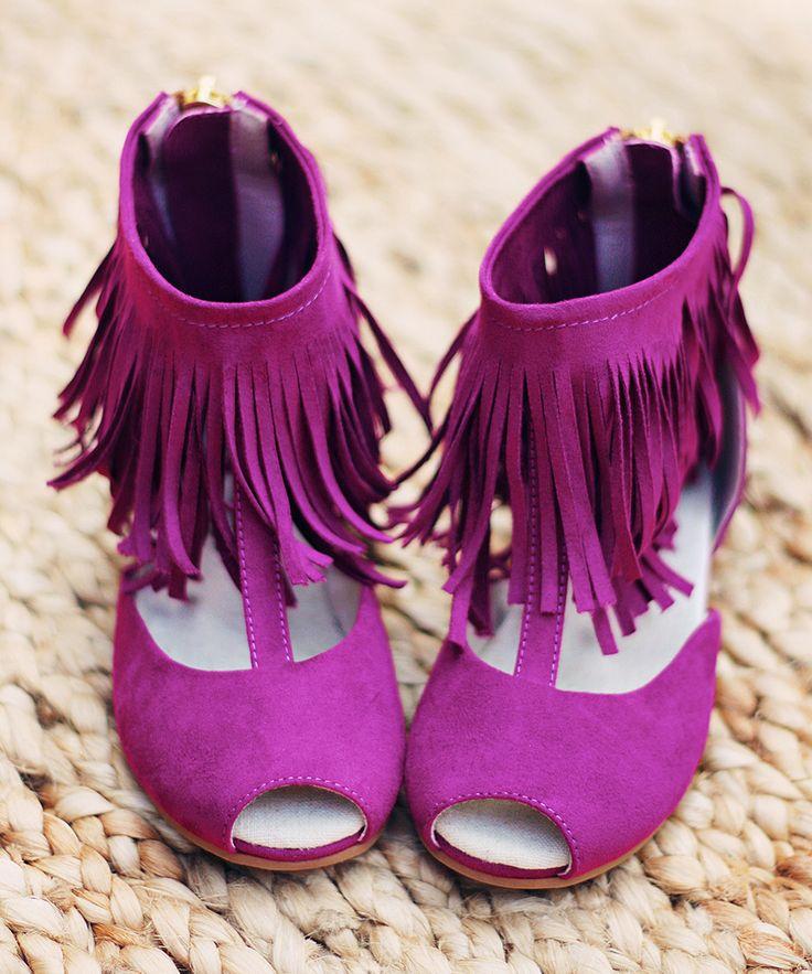 Plum Foy Sandal & Hair Clip - Kids | zulily