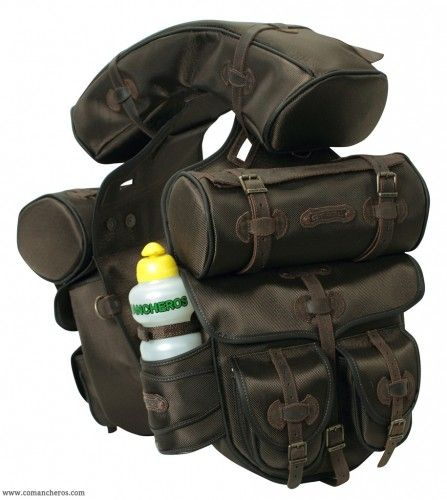 Complete saddle bag  Comancheros for Trekking saddle made Cordura STC and Leather Article BNP3211