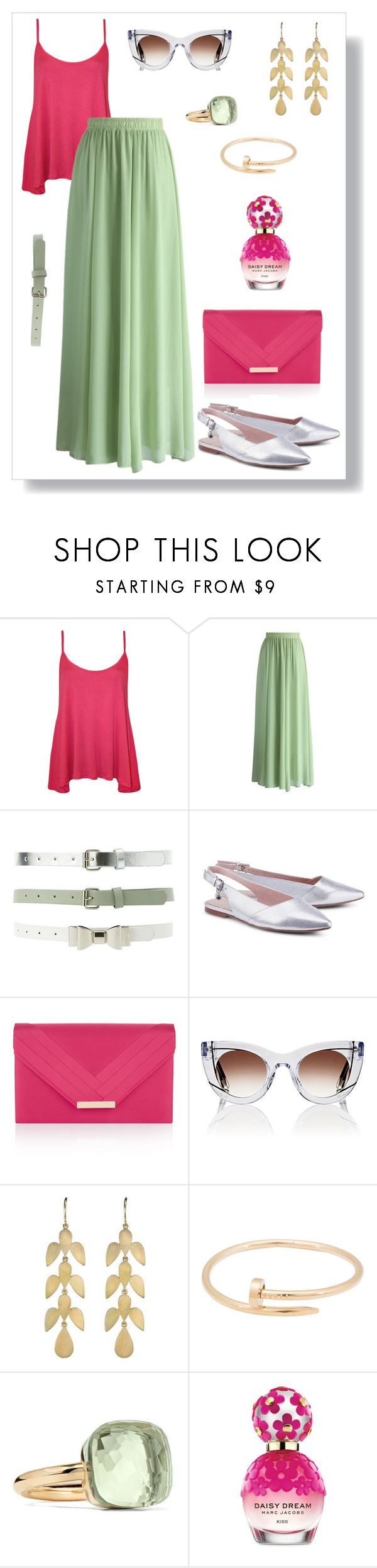 """""""№ 456"""" by tigrpuh ❤ liked on Polyvore featuring WearAll, Chicwish, Charlotte Russe, Accessorize, Thierry Lasry, Irene Neuwirth, Cartier, Pomellato and Marc Jacobs"""