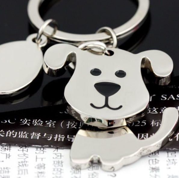 Cute Doggy Keychain with Engravable Tag    Doggy Size: 4cm x 3cm    Condition: Brand New