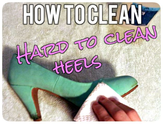 How to clean hard to clean heels!