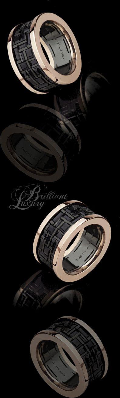 Brilliant Luxury * Canturi Cubism Black Sapphire Ring