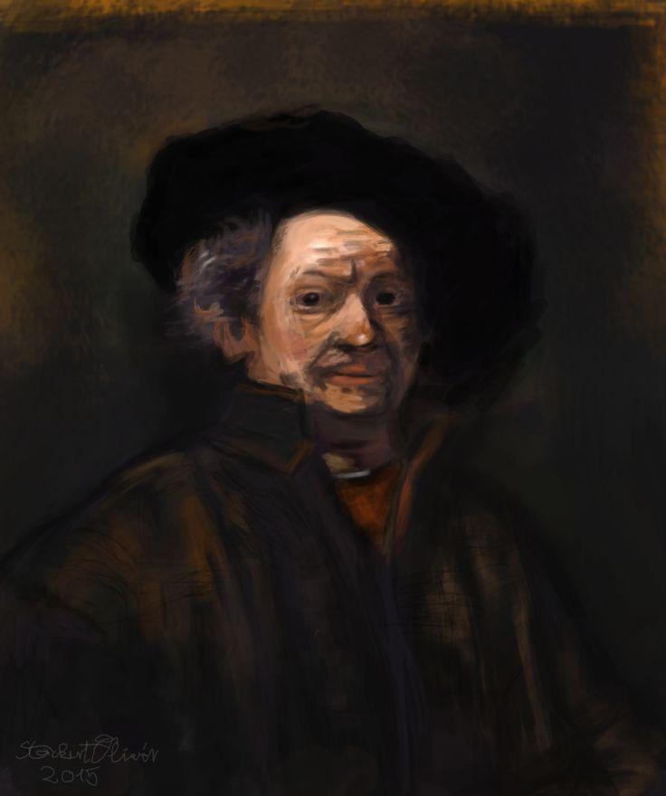 Rembrandt Digital Painting #rembrandt #portrait #digitalpainting #digital #painting