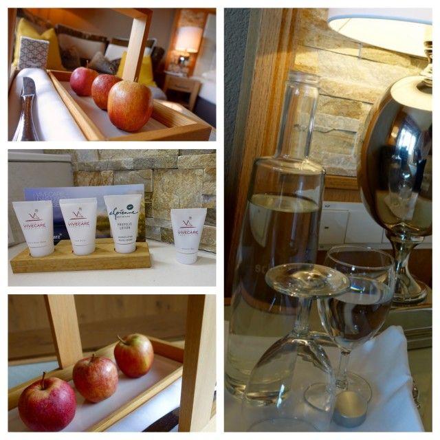 Wasser, Äpfel, Pflegeprodukte... alles täglich frisch aufgefüllt!