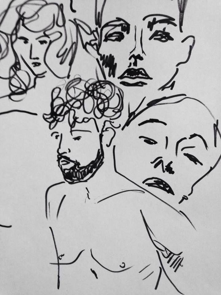 sketch #random #sketch #drawing #portrait #people #hipsters #off #art #ownart #simple #graphic #handmade