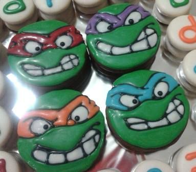 tortugas ninjas en mega #alfajor #detalle