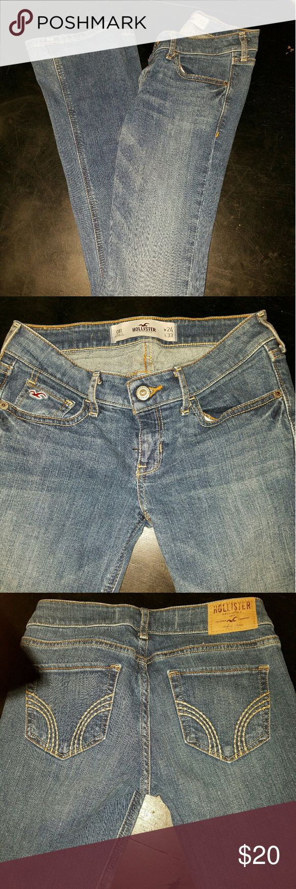 Hollister Boot Cut Jeans 24W 33L size 0R Excellent condition, not sure if these were worn more than a couple of times. Lost in a closet. Hollister Jeans Boot Cut