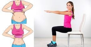 Do you want to lose weight? With these 5 chair exercises you'll get rid of your belly fat!