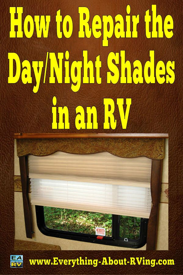 Here is our answer to: How to Repair the Day/Night Shades in an RV.