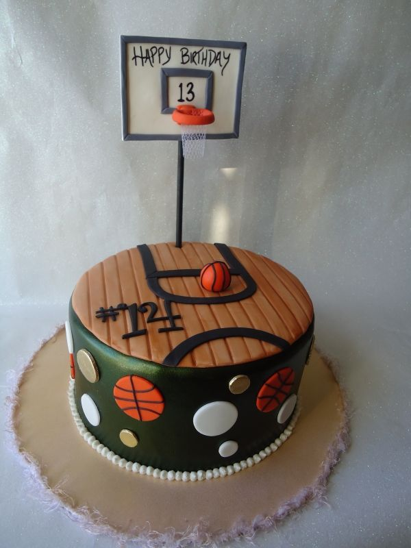 Torta cancha de Basketball
