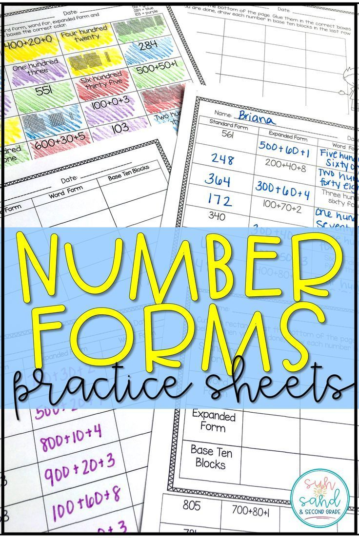 The 25 best expanded form worksheets ideas on pinterest are you trying to reinforce number forms standard form expanded form word form falaconquin