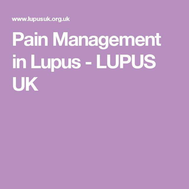 Pain Management in Lupus - LUPUS UK