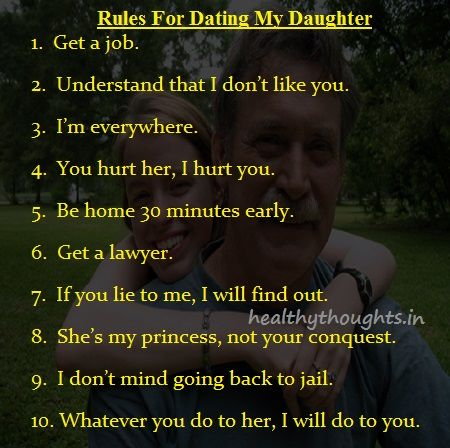 fathers rules for dating daughter