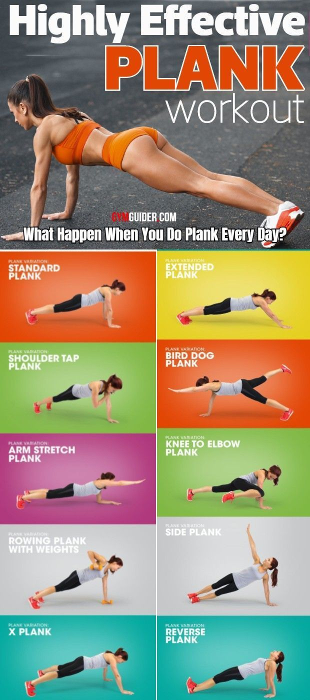 Plank Variations That Will Transform Your Core   Plank workout ...