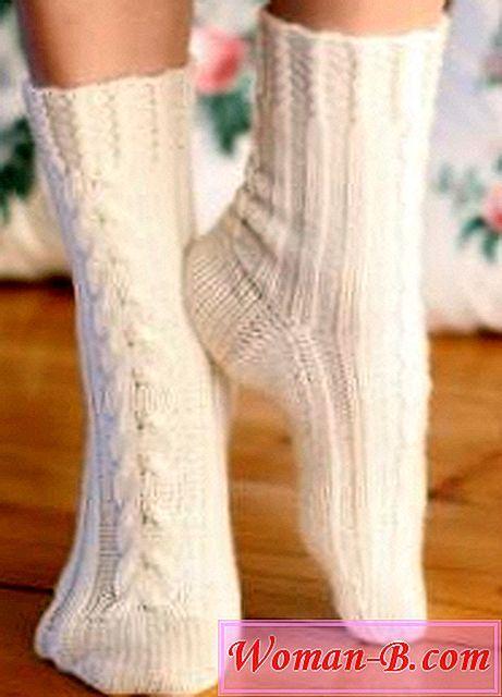 Pletené ponožky styl enterlak - Časopis Módní Dámské