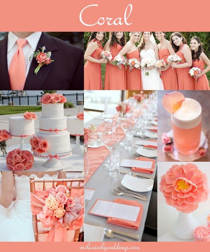 cheap wedding reception images coral & gray | Coral Wedding Color – Combination Options You Don't Want to ...