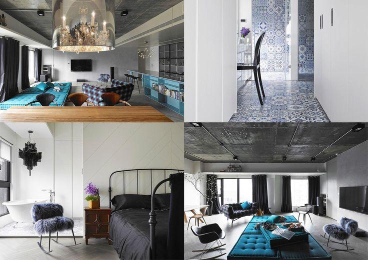 Zaujímavá realizácia interiéru bytu z dielne taiwanského ateliéru Ganna Design, v ktorom strohú materialitu dopĺňa výrazná farebnosť. Hlavný obytný priestor je vďaka flexibilnému sedeniu a viacúčelovému kuchynskému ostrovu variabilne využiteľný podľa potrieb a nálady užívateľov.