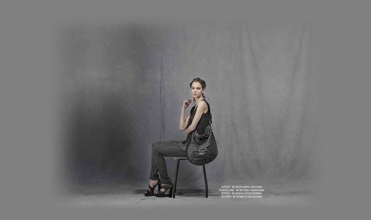 Malloni Black Collection S13 #jersey #slacks #trousers #pants #shoes #bag